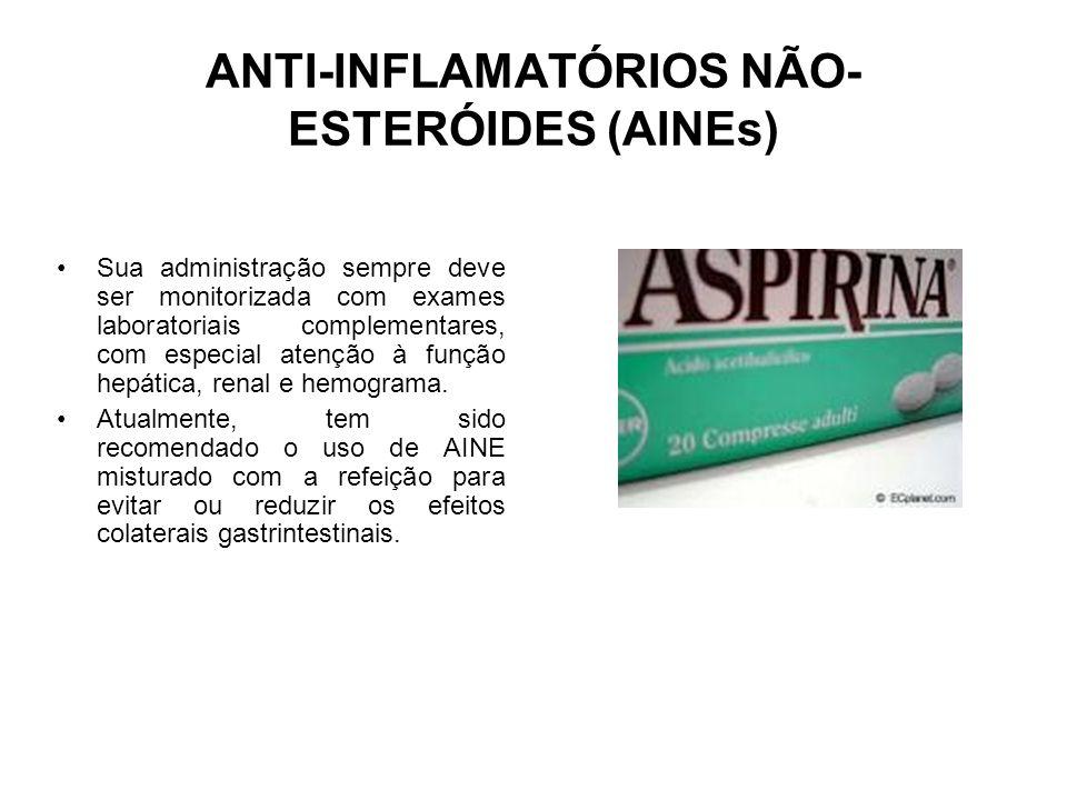 ANTI-INFLAMATÓRIOS NÃO-ESTERÓIDES (AINEs)