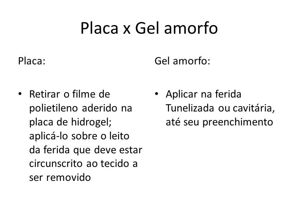 Placa x Gel amorfo Placa: