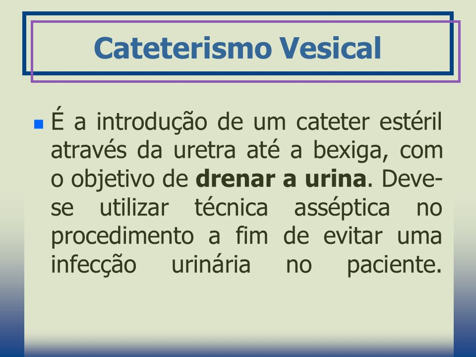 Cateterismo Vesical