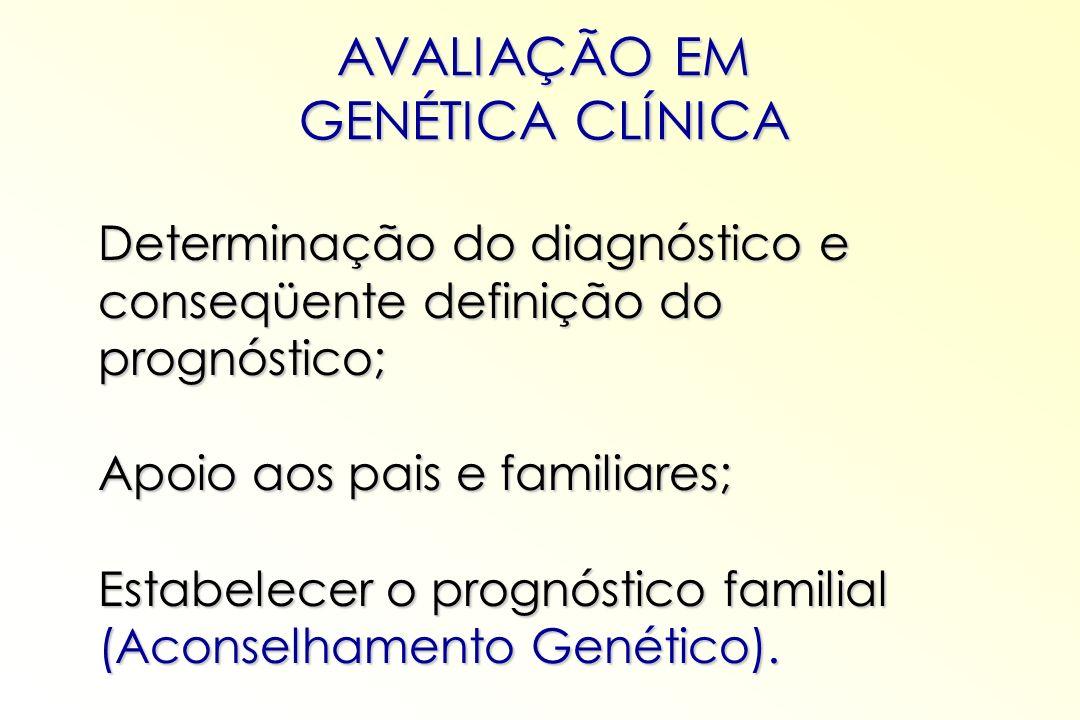 AVALIAÇÃO EM GENÉTICA CLÍNICA