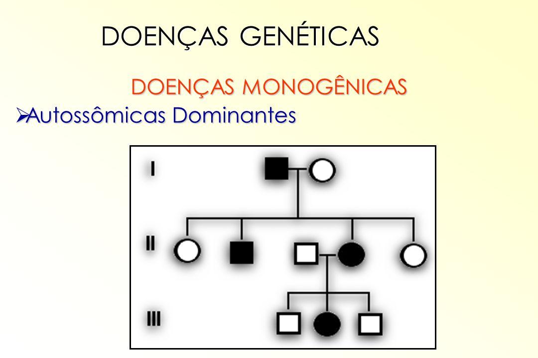 DOENÇAS GENÉTICAS DOENÇAS MONOGÊNICAS Autossômicas Dominantes