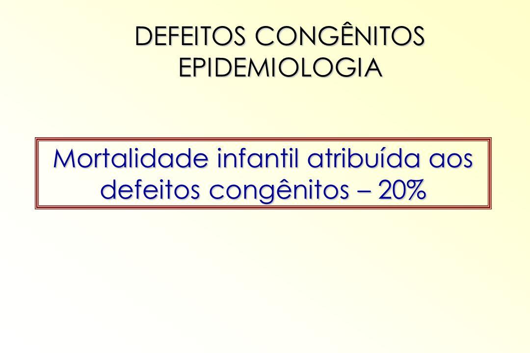 DEFEITOS CONGÊNITOS EPIDEMIOLOGIA