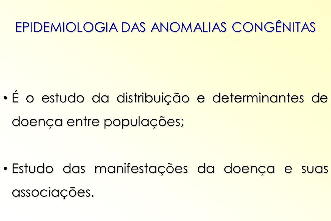 EPIDEMIOLOGIA DAS ANOMALIAS CONGÊNITAS