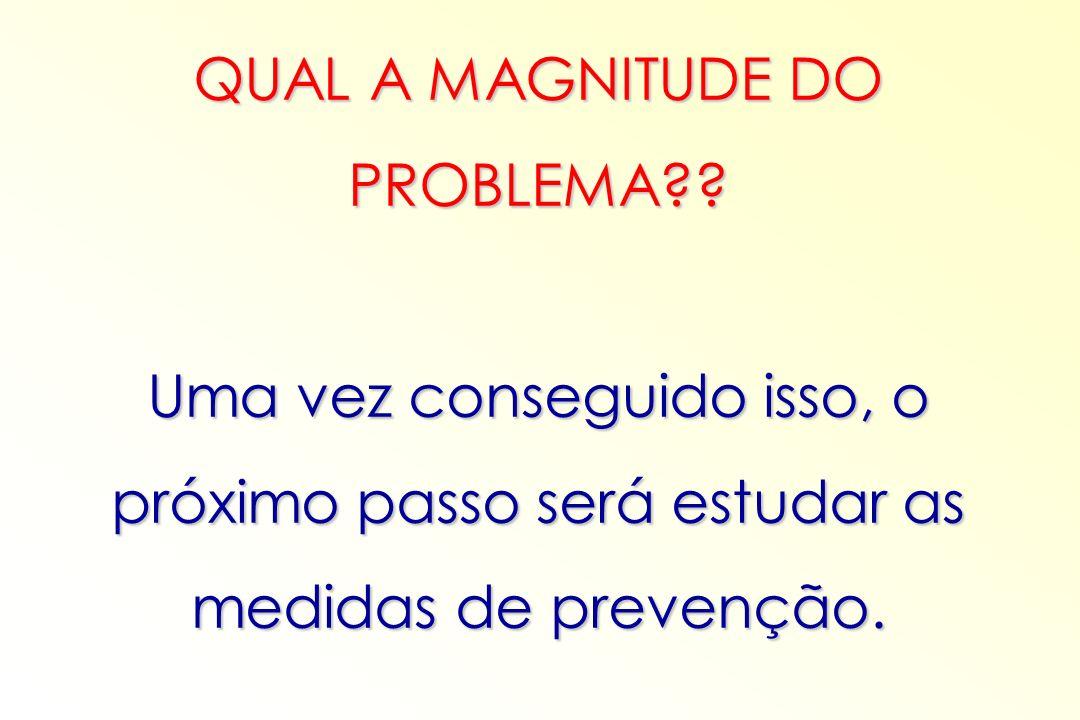 QUAL A MAGNITUDE DO PROBLEMA