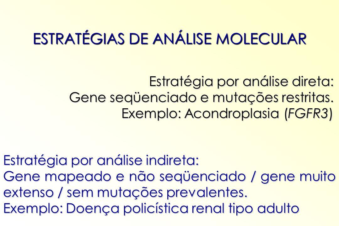 ESTRATÉGIAS DE ANÁLISE MOLECULAR