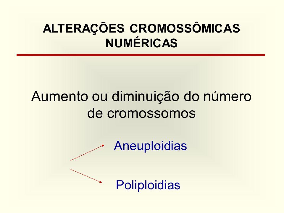 ALTERAÇÕES CROMOSSÔMICAS NUMÉRICAS