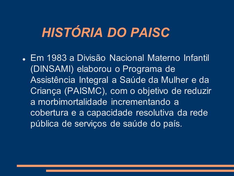 HISTÓRIA DO PAISC