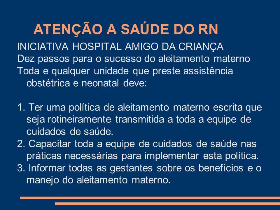 ATENÇÃO A SAÚDE DO RN INICIATIVA HOSPITAL AMIGO DA CRIANÇA