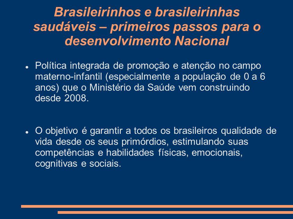 Brasileirinhos e brasileirinhas saudáveis – primeiros passos para o desenvolvimento Nacional