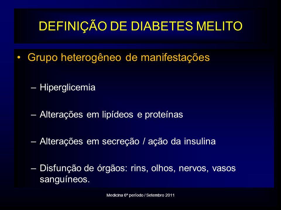 DEFINIÇÃO DE DIABETES MELITO