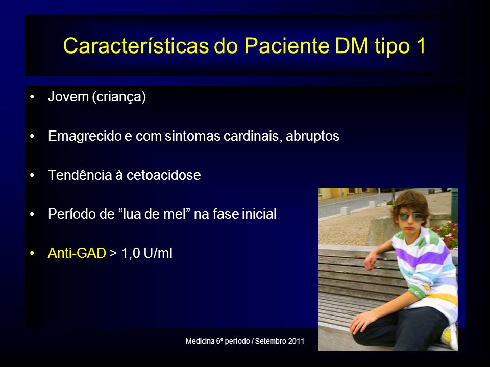 Características do Paciente DM tipo 1