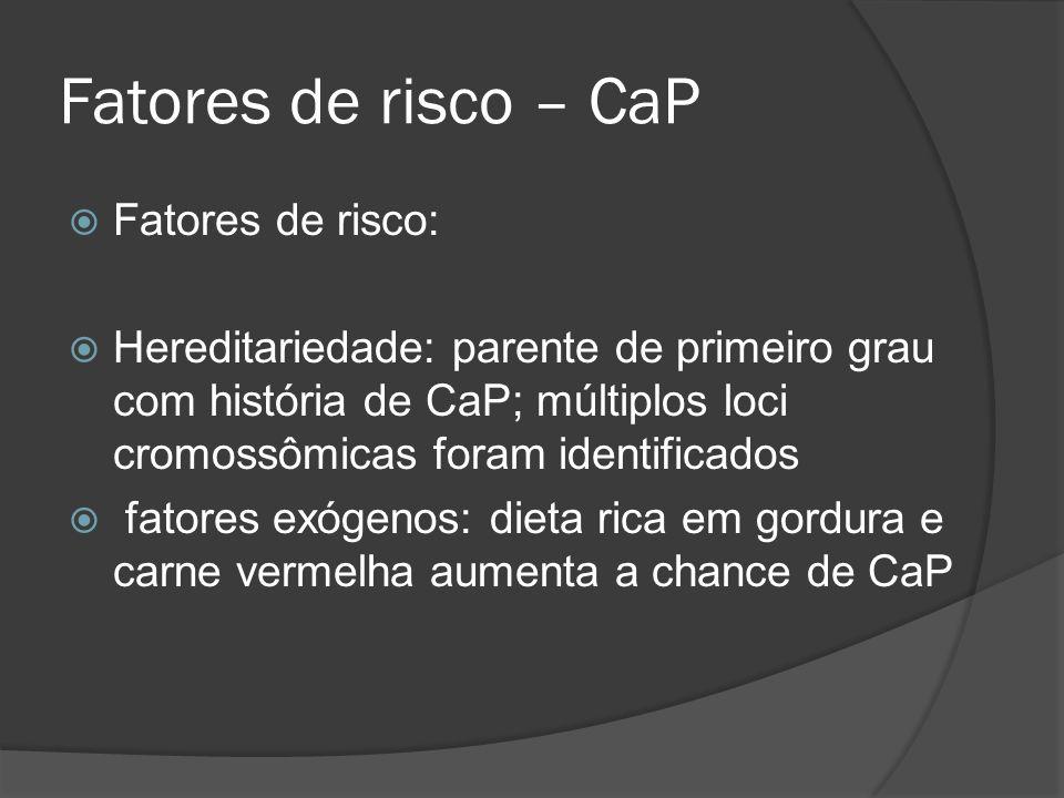 Fatores de risco – CaP Fatores de risco: