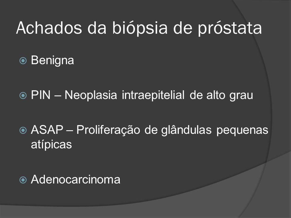 Achados da biópsia de próstata