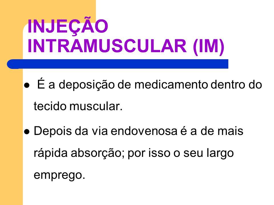 INJEÇÃO INTRAMUSCULAR (IM)