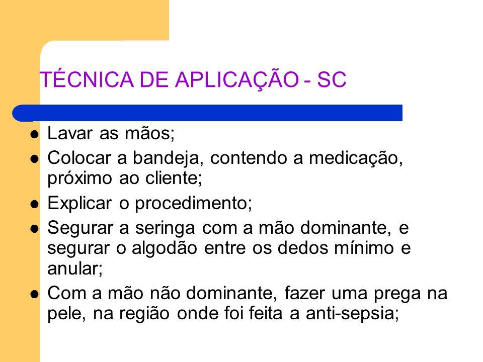 TÉCNICA DE APLICAÇÃO - SC