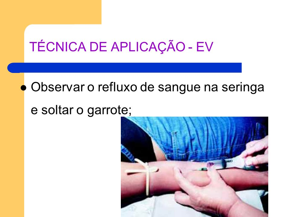 TÉCNICA DE APLICAÇÃO - EV