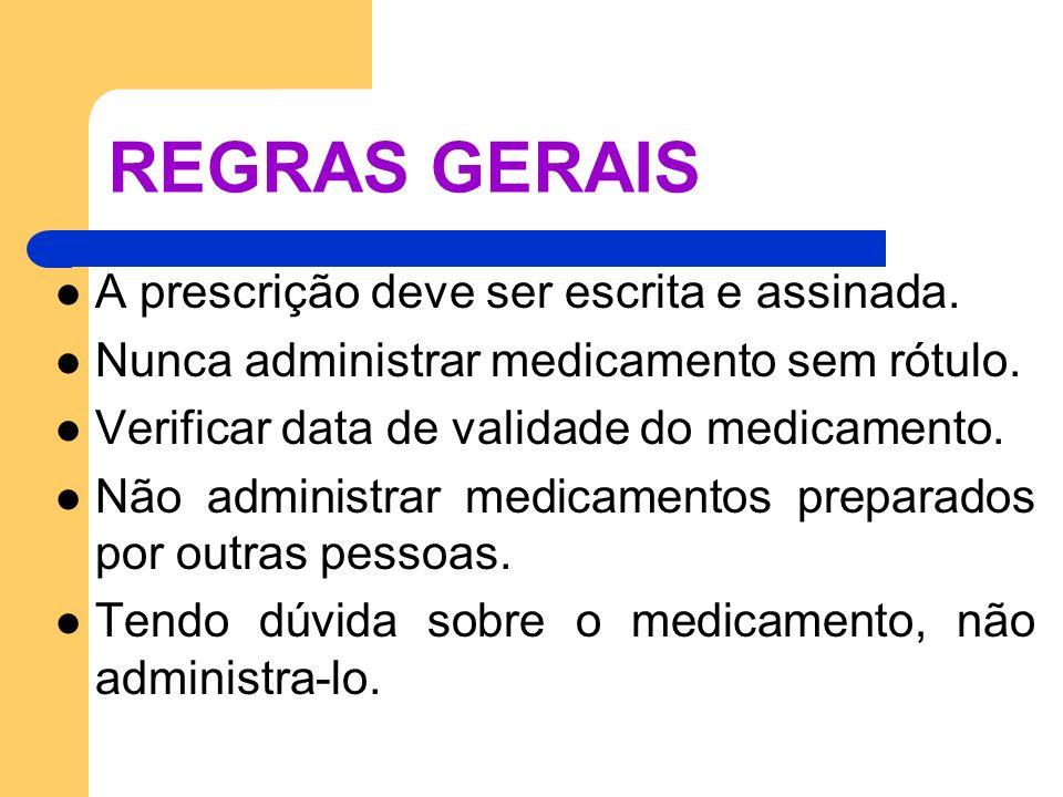 REGRAS GERAIS A prescrição deve ser escrita e assinada.