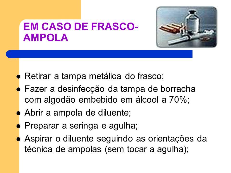 EM CASO DE FRASCO-AMPOLA