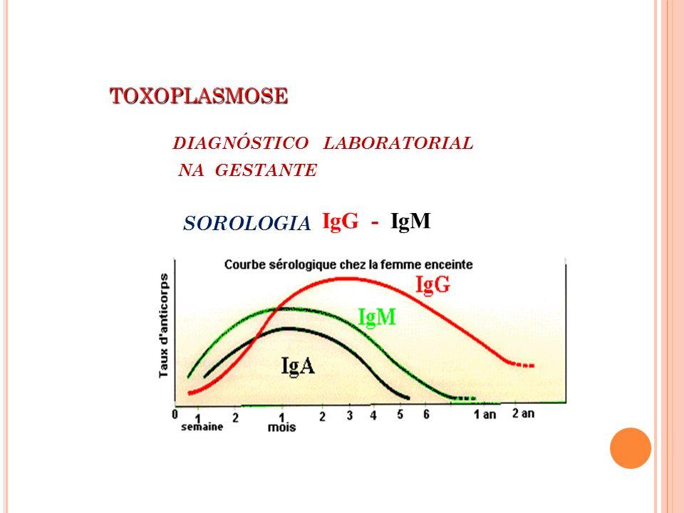 IgG - IgM TOXOPLASMOSE DIAGNÓSTICO LABORATORIAL NA GESTANTE