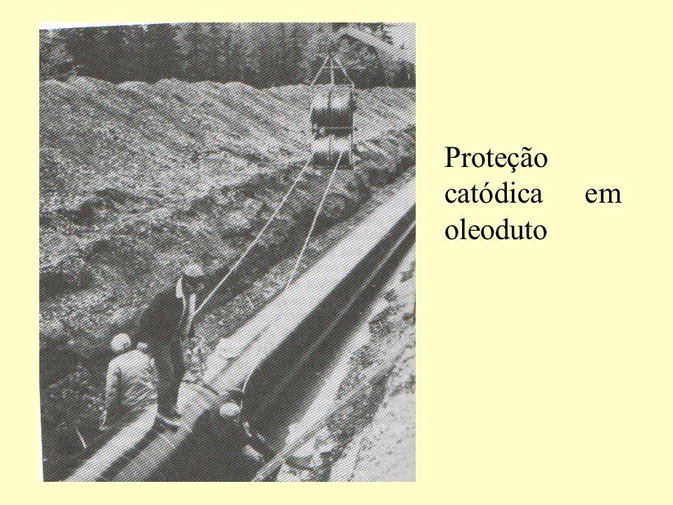 Proteção catódica em oleoduto