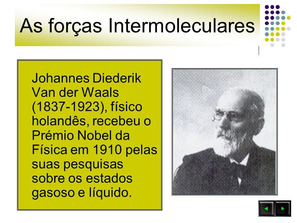 As forças Intermoleculares