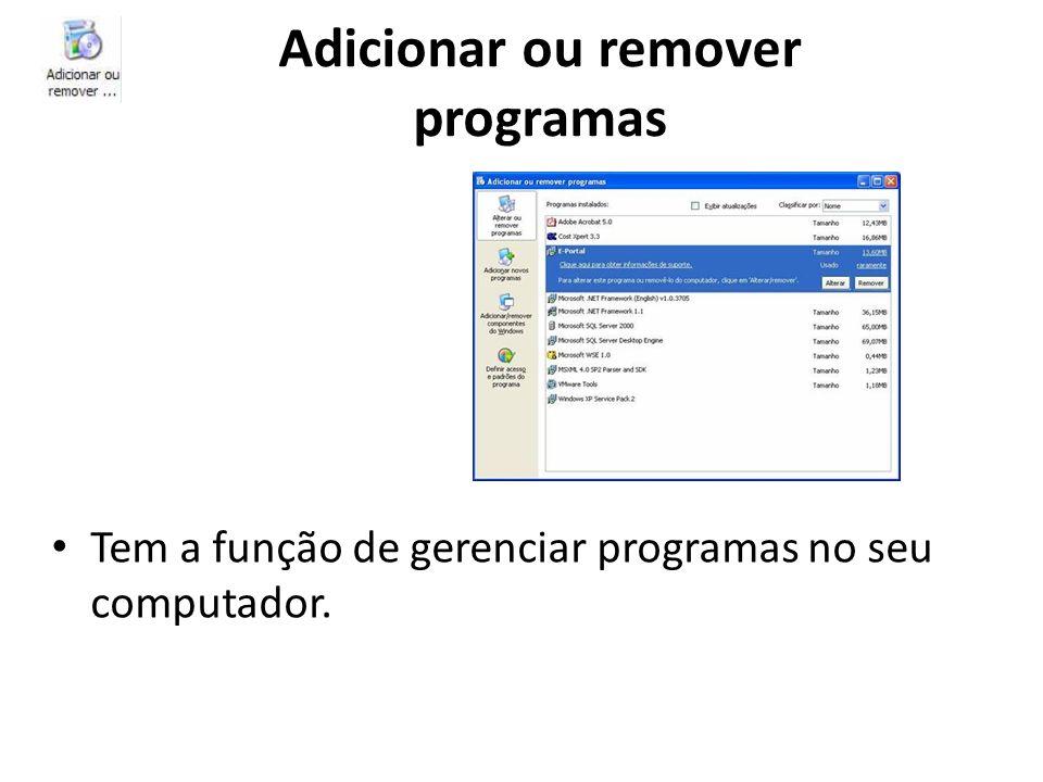 Adicionar ou remover programas