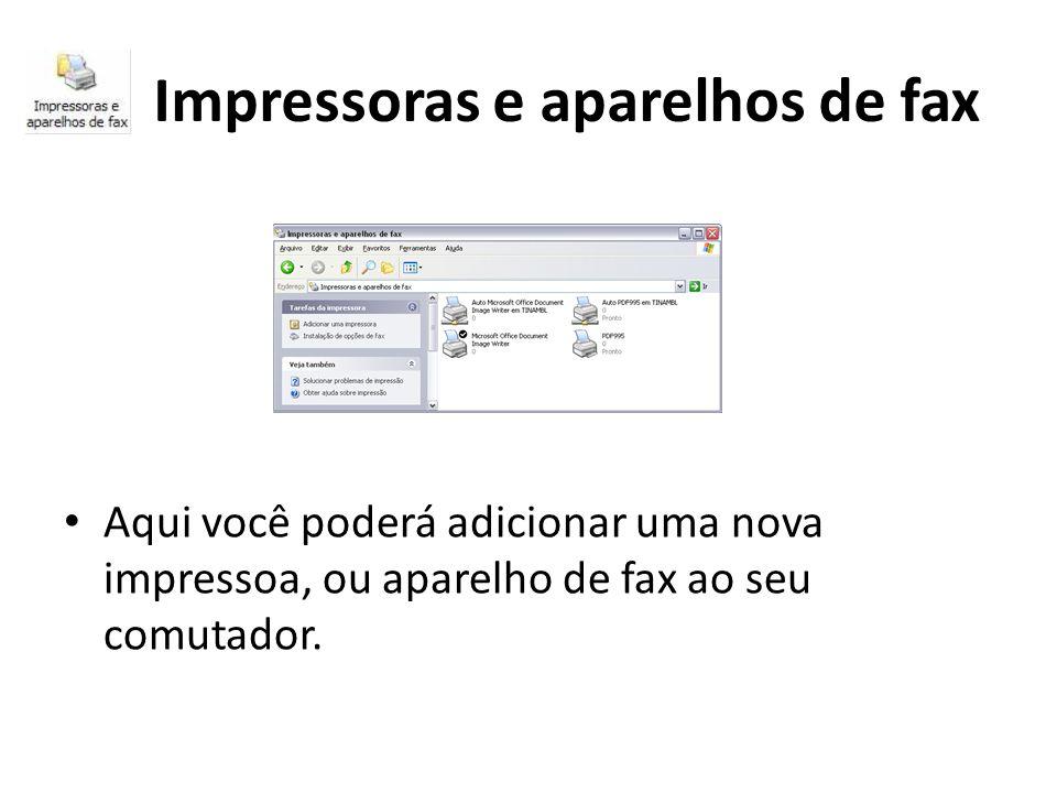Impressoras e aparelhos de fax