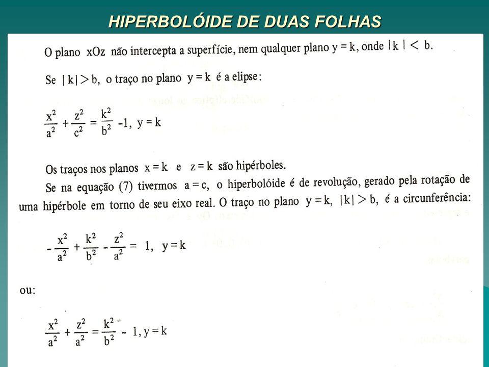 HIPERBOLÓIDE DE DUAS FOLHAS