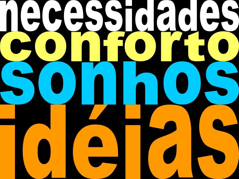 necessidades conforto sonhos idéias