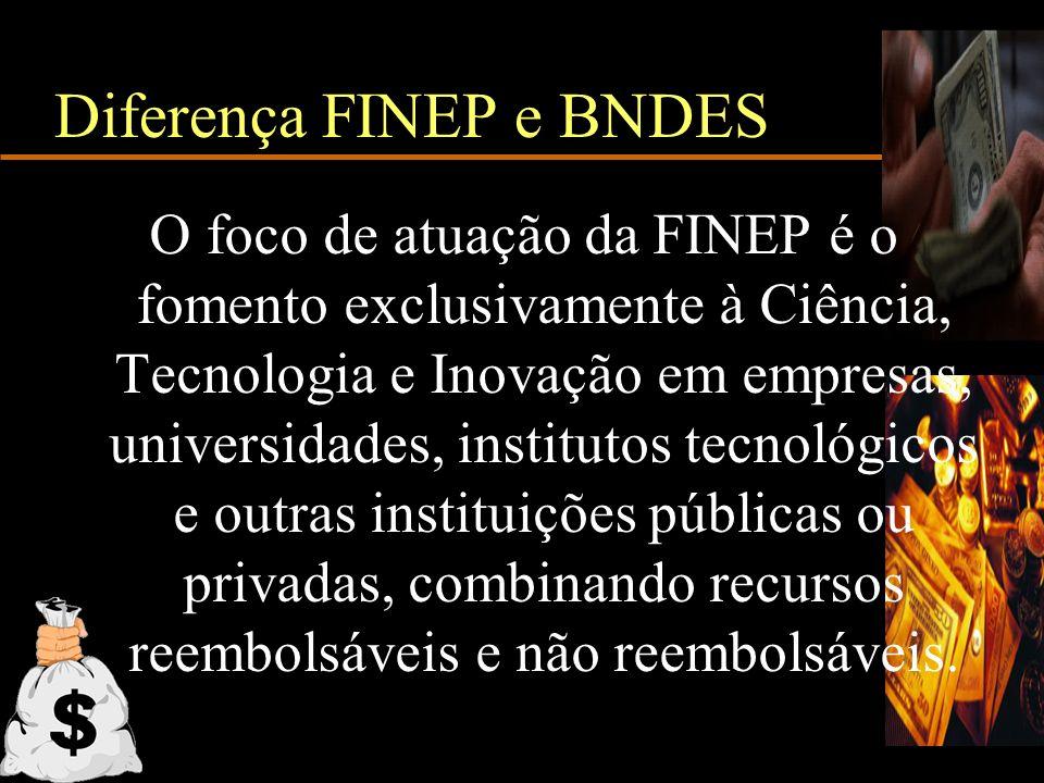 Diferença FINEP e BNDES