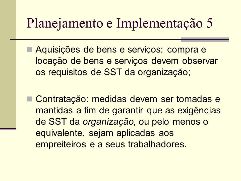 Planejamento e Implementação 5