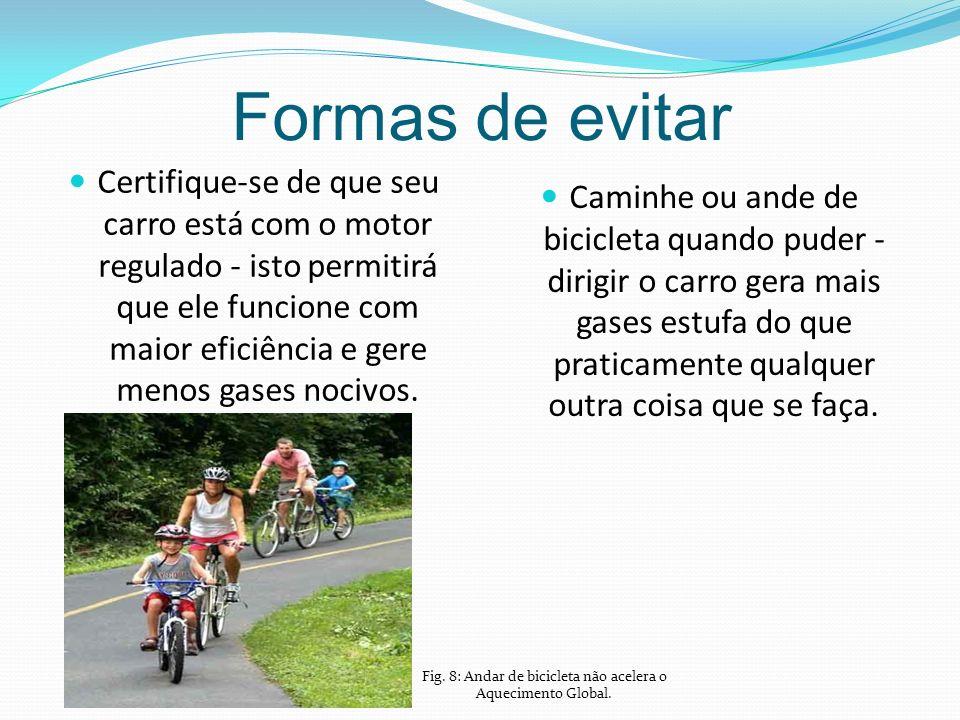 Fig. 8: Andar de bicicleta não acelera o Aquecimento Global.