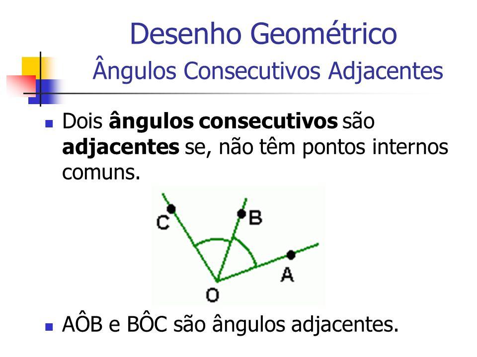 Desenho Geométrico Ângulos Consecutivos Adjacentes