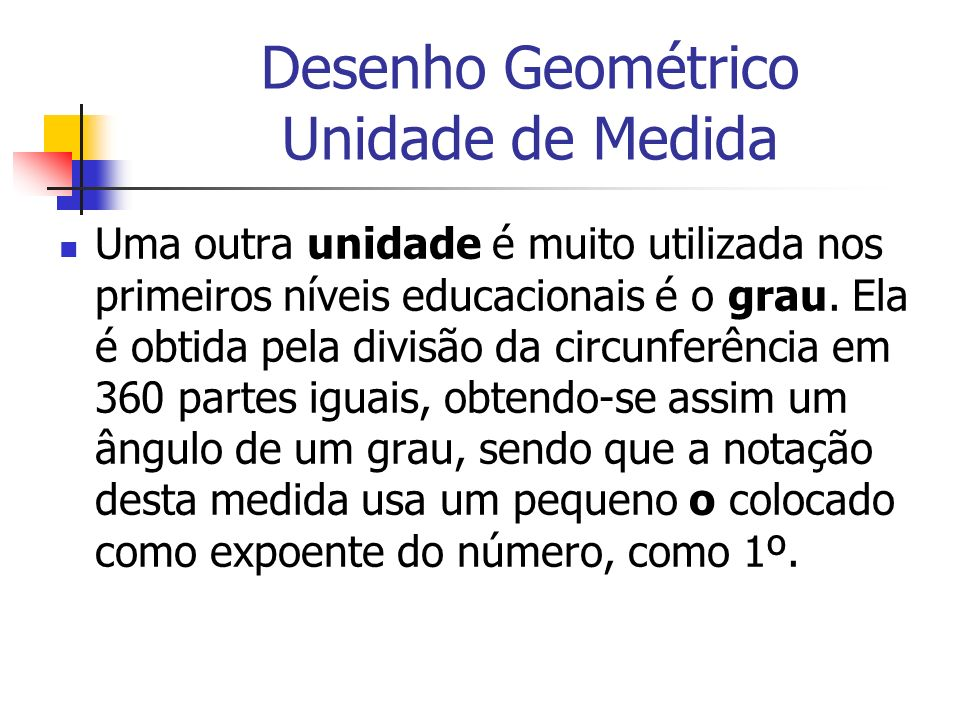 Desenho Geométrico Unidade de Medida