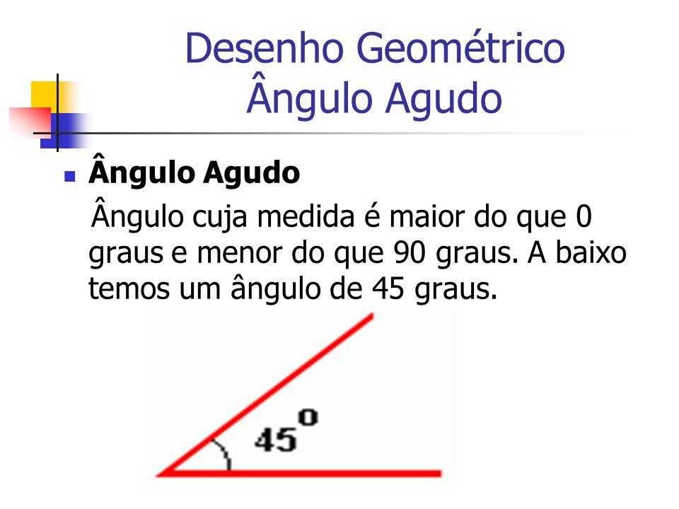 Desenho Geométrico Ângulo Agudo