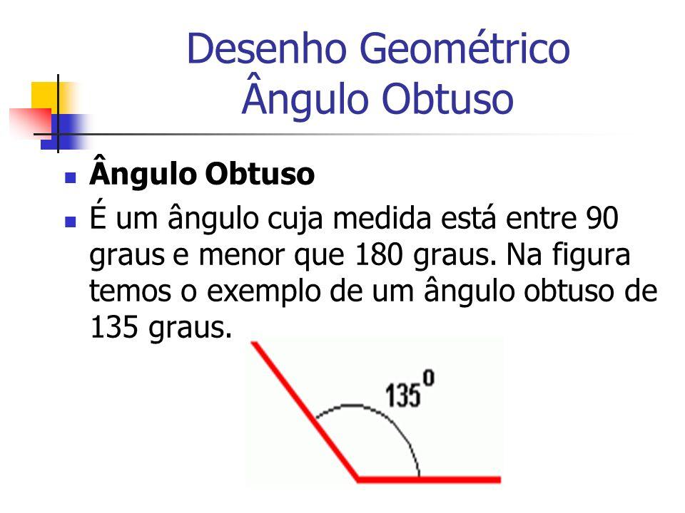 Desenho Geométrico Ângulo Obtuso