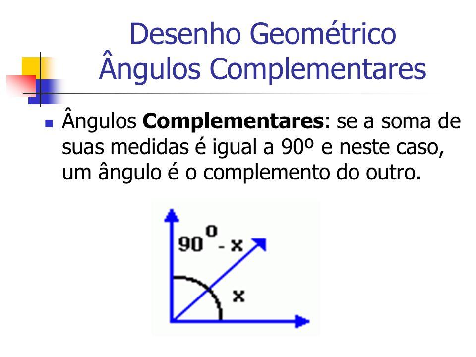 Desenho Geométrico Ângulos Complementares