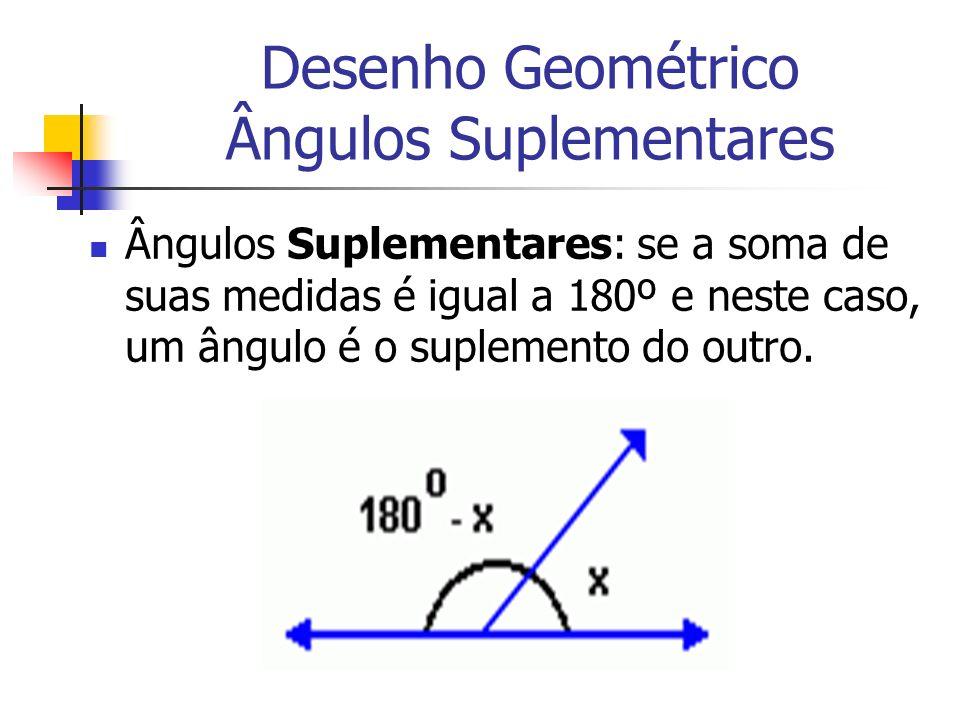 Desenho Geométrico Ângulos Suplementares