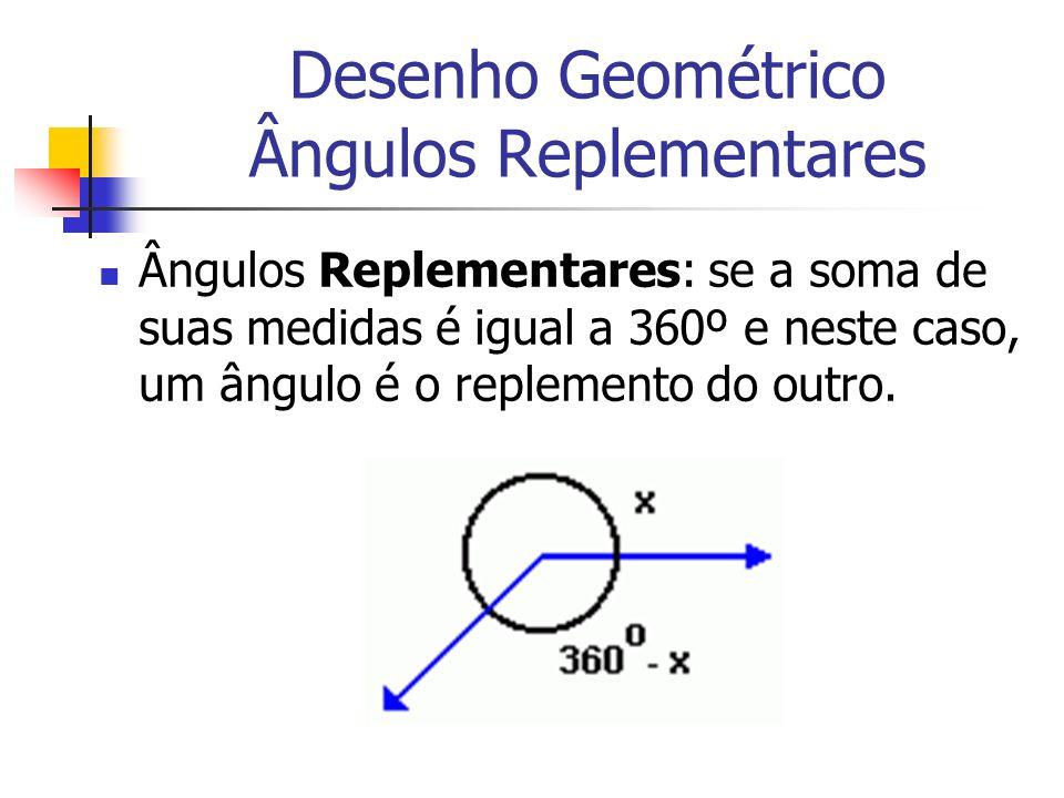 Desenho Geométrico Ângulos Replementares