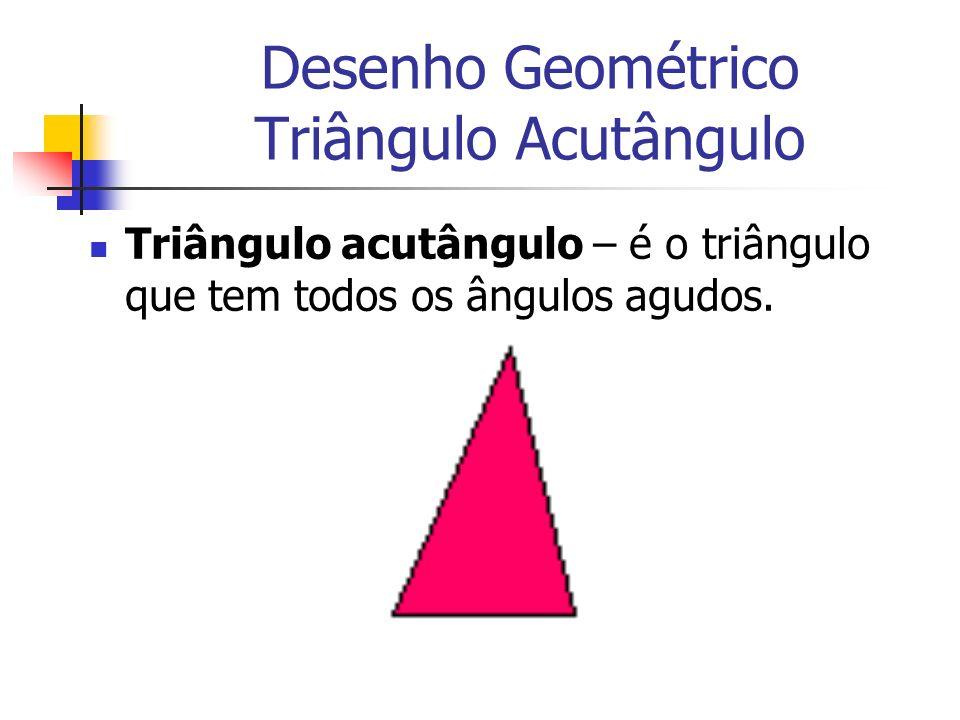 Desenho Geométrico Triângulo Acutângulo