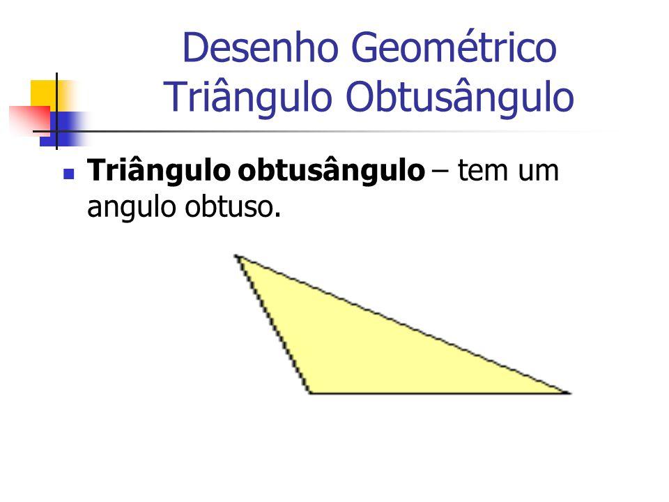 Desenho Geométrico Triângulo Obtusângulo