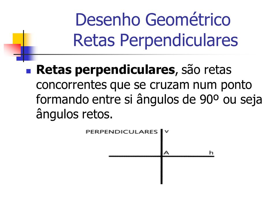 Desenho Geométrico Retas Perpendiculares