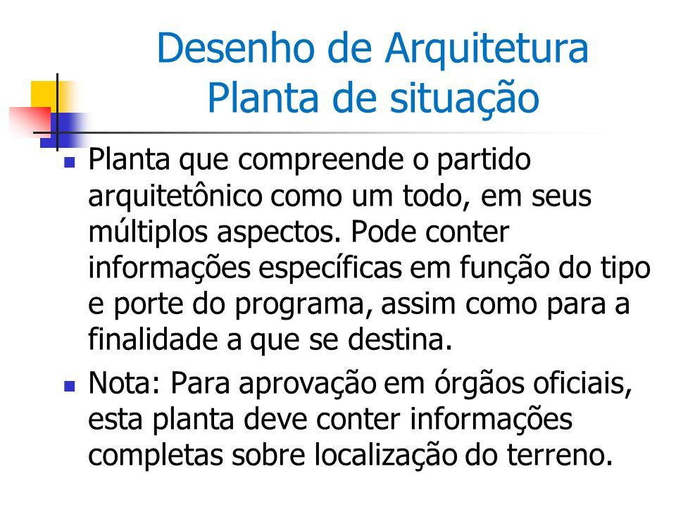 Desenho de Arquitetura Planta de situação