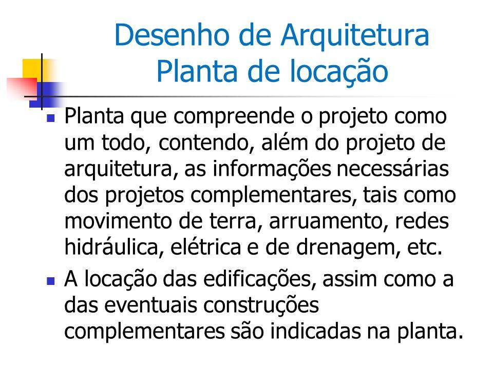 Desenho de Arquitetura Planta de locação