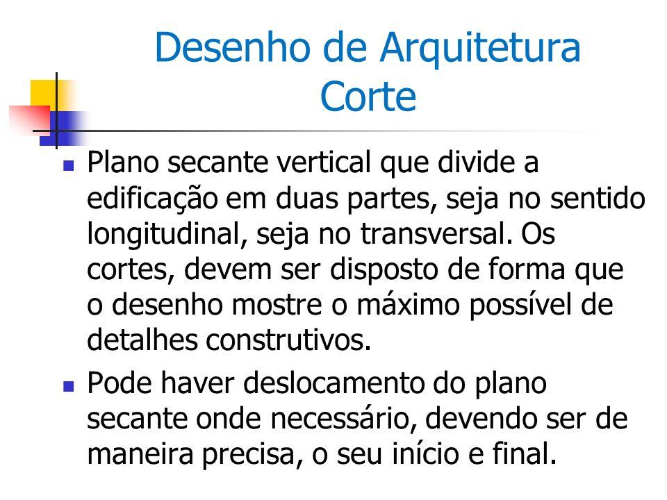 Desenho de Arquitetura Corte