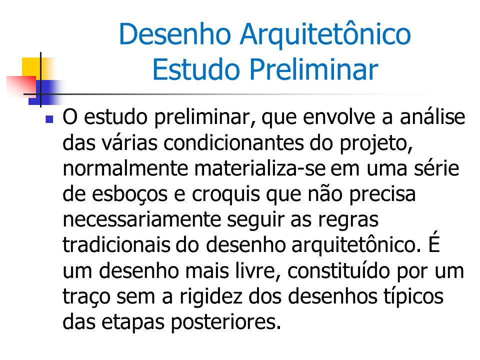 Desenho Arquitetônico Estudo Preliminar