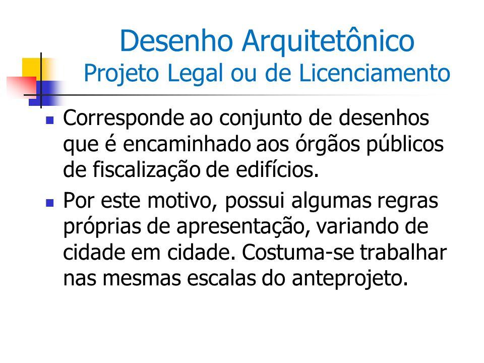 Desenho Arquitetônico Projeto Legal ou de Licenciamento