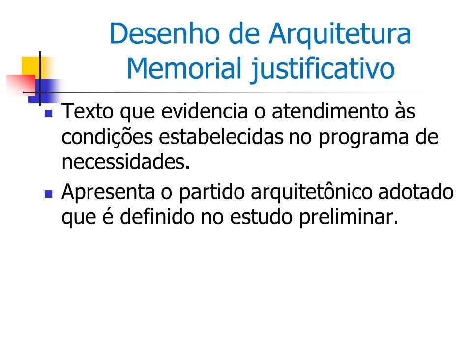 Desenho de Arquitetura Memorial justificativo