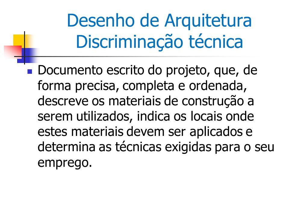 Desenho de Arquitetura Discriminação técnica