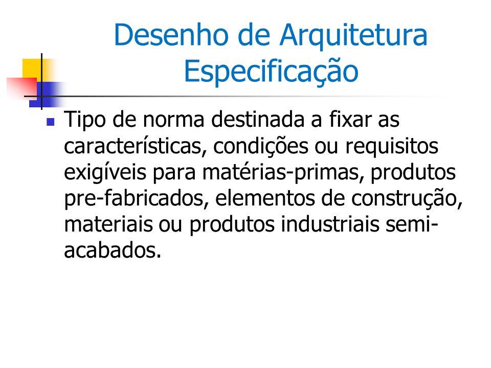 Desenho de Arquitetura Especificação